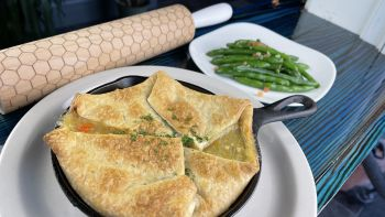 The Pony and the Boat Comfort Kitchen, Chicken Pot Pie
